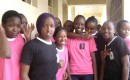 T-plus girls pose for the camera, they still have 20 more sessions to attend on adolescents' reproductive health.